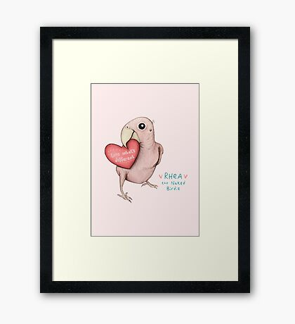 Rhea - Love What's Different Framed Print