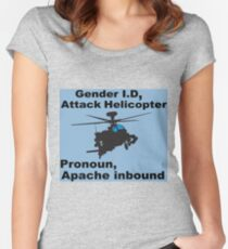 I Sexually Identify As An Attack Helicopter Women's Fitted Scoop T-Shirt