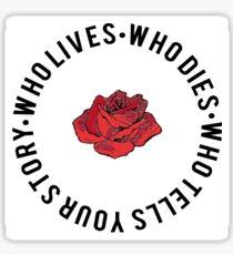 Hamilton Typography  Sticker