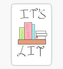 It's Lit Book Shelf Sticker