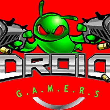 Droidgamers Logo with text by meeplegamers