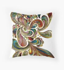 Abstract, Paisley Stained Glass Throw Pillow