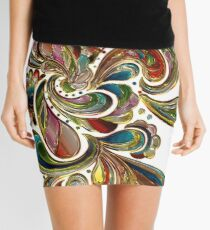 Abstract, Paisley Stained Glass Mini Skirt