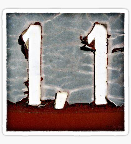 1,1 Sticker