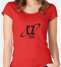 Crossing Zebras Black Logo Women's Fitted Scoop T-Shirt