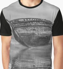 Shipwreck reflections in Monochrome  Graphic T-Shirt