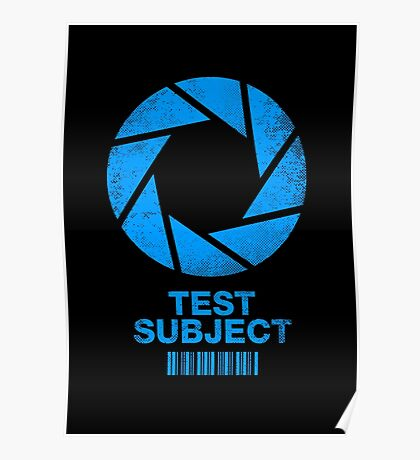 Test Subject -blue- Poster