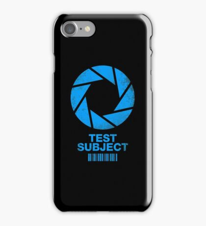 Test Subject -blue- iPhone Case/Skin