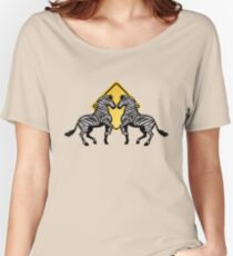 Two Zebras Crossing Women's Relaxed Fit T-Shirt