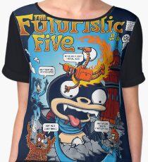 The Futuristic Five Chiffon Top