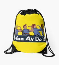 We can All do it- #LoveTrumpsHate Drawstring Bag