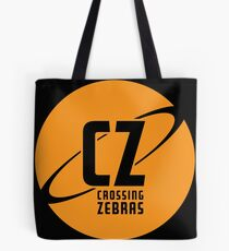 Crossing Zebras Orb Graphic Tote Bag