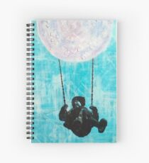 Puzzle Moon Swing Spiral Notebook