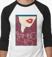 Flammende Lippen Baseballshirt für Männer