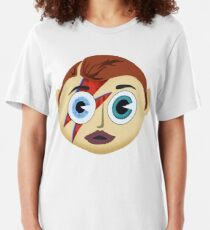 Screwed-Up Eyes And Screwed Down Hairdo Slim Fit T-Shirt