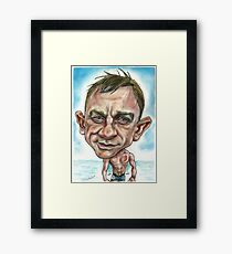 Daniel Craig as Sid James...Bond Framed Print