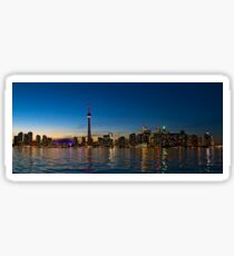 Toronto Skyline at dusk Sticker