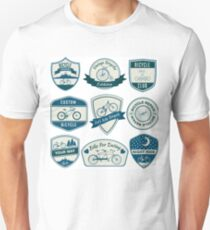 Bicycle Vintage Badges Set  Unisex T-Shirt