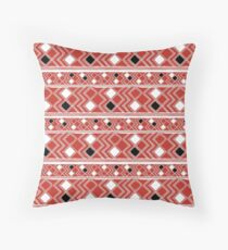 Yuchi Red Square Throw Pillow