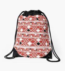 Yuchi Red Square Drawstring Bag