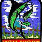 KEY WEST FLORIDA VINTAGE MARLIN FISHING OCEAN BEACH VACATION by MyHandmadeSigns