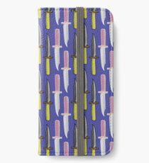 Double Knives in Purple iPhone Wallet/Case/Skin