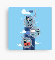 Career Growth - Successful Businessman  Canvas Print