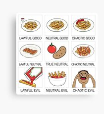 ketchup and fries alignment system Canvas Print