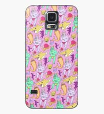 Paisley Pink Monsters Case/Skin for Samsung Galaxy