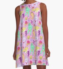 Paisley Pink Monsters A-Line Dress