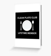 Clean Plate Club Greeting Card