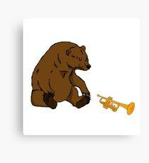 Trumpet Bear Canvas Print