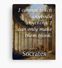 Socrates Teaching Philosophical Quote Canvas Print