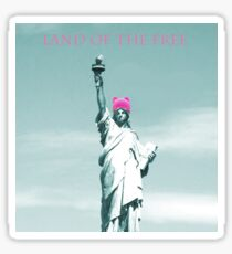 Pink Pussy cat Hat Statue of Liberty Sticker