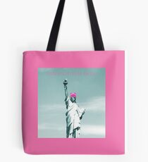 Pink Pussy cat Hat Statue of Liberty Tote Bag