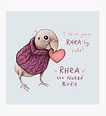 Rhea - Rhea-ly Cute! Photographic Print
