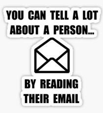 Read Their Email Sticker