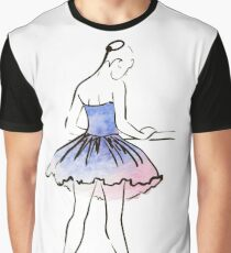 ballerina figure, watercolor illustration Graphic T-Shirt