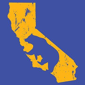 California Bear - Gold by LH-Creative