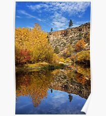 Autumn In The Susan River Canyon Poster