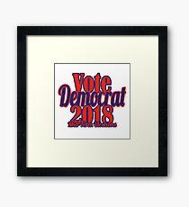 Vote Democrat 2018 Framed Print