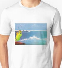 Blue splash kiteboarder Unisex T-Shirt