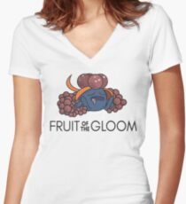Fruit of the Gloom Women's Fitted V-Neck T-Shirt