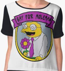 Gay For Moleman Women's Chiffon Top