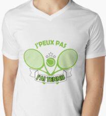 J'peux Pas J'ai Tennis Men's V-Neck T-Shirt