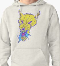 Electric Neon Wolf Pullover Hoodie