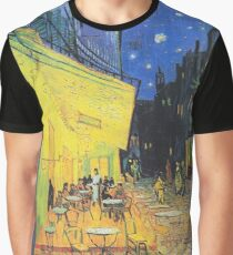 Café Terrace at Night by Vincent van Gogh Graphic T-Shirt