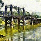 Murray River bridge by Fran Woods