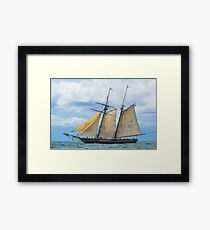 Amistad Under Sail Framed Print