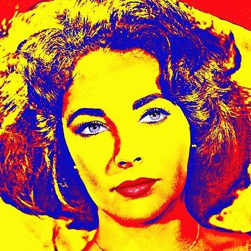 Elizabeth Taylor by artcinemagaller
